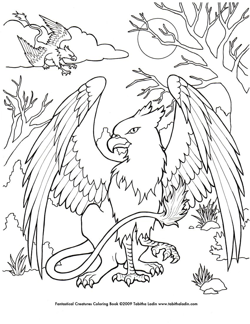 Mystical Creatures Coloring Pages Free Coloring Pages Animal