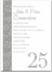 25th wedding anniversary invitations silver renaissance 5054 25th wedding anniversary invitations silver renaissance 5054 stopboris