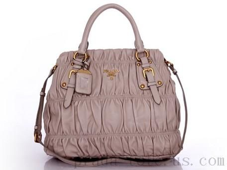 Authentic  Prada BN1789 Handbags in Light Gray Outlet store  0261c47028275