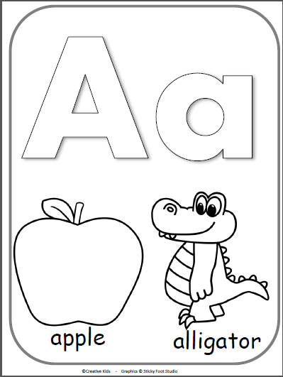 Letter A Alphabet Cards For Display Or Coloring Full Page Free Madebyteachers Alphabet Coloring Pages Alphabet Activities Preschool Abc Coloring