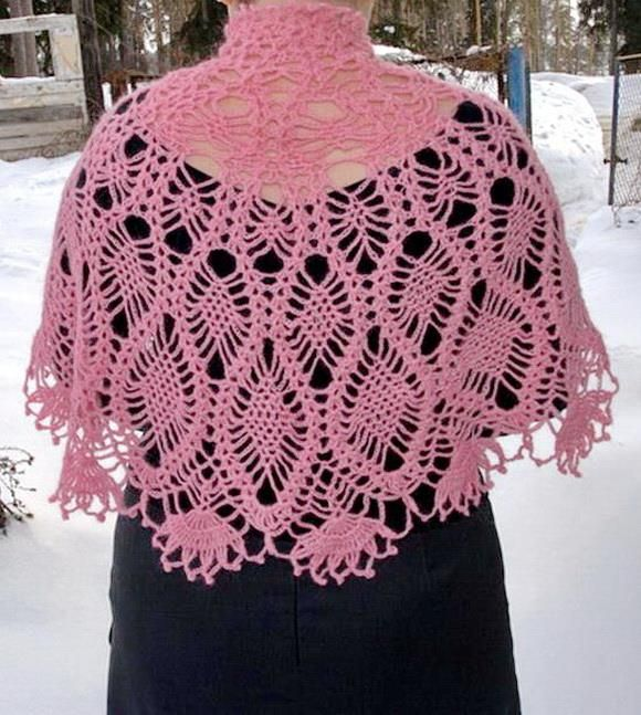 Crochet Lace Cape Pattern - Fabulous (Crochet Shawls) | Pinterest ...