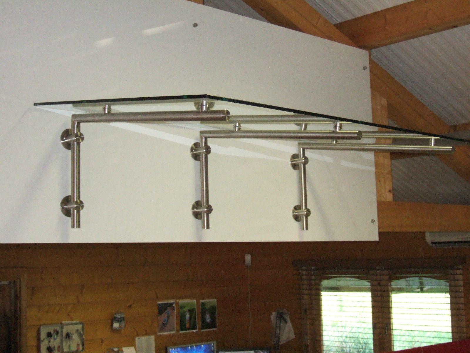 Stainless Steel Glass Door Canopy - L BRACKET (BRACKETS ONLY) | eBay & Stainless Steel Glass Door Canopy - L BRACKET (BRACKETS ONLY ...