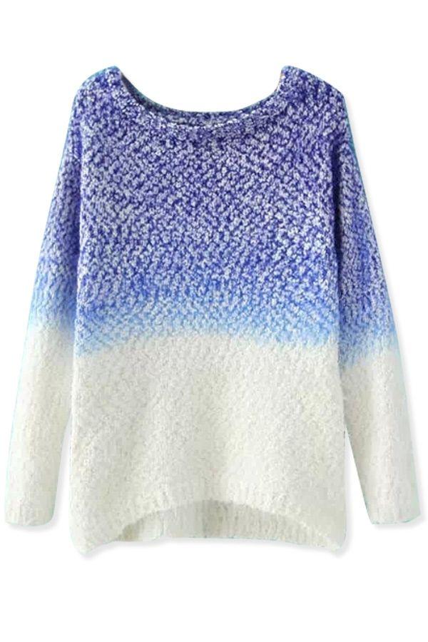 All-Matching Dip-Dye Mohair Sweater