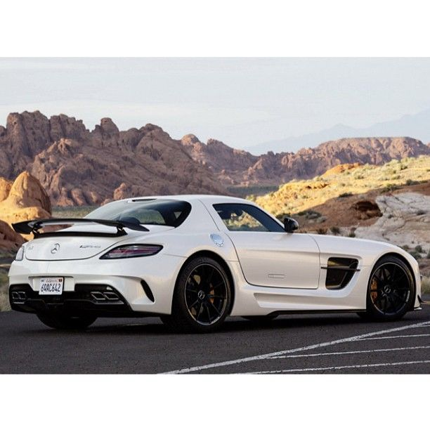 AMG SLS Black Series With A Scenic Backdrop