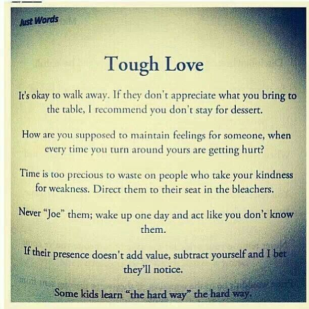tough love quotes for him