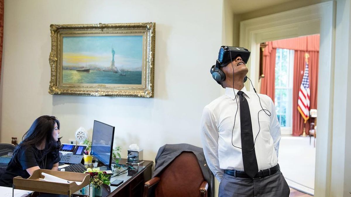 Barack Obama in a VR headset is still inherently funny                                                                                                                                                                                 More