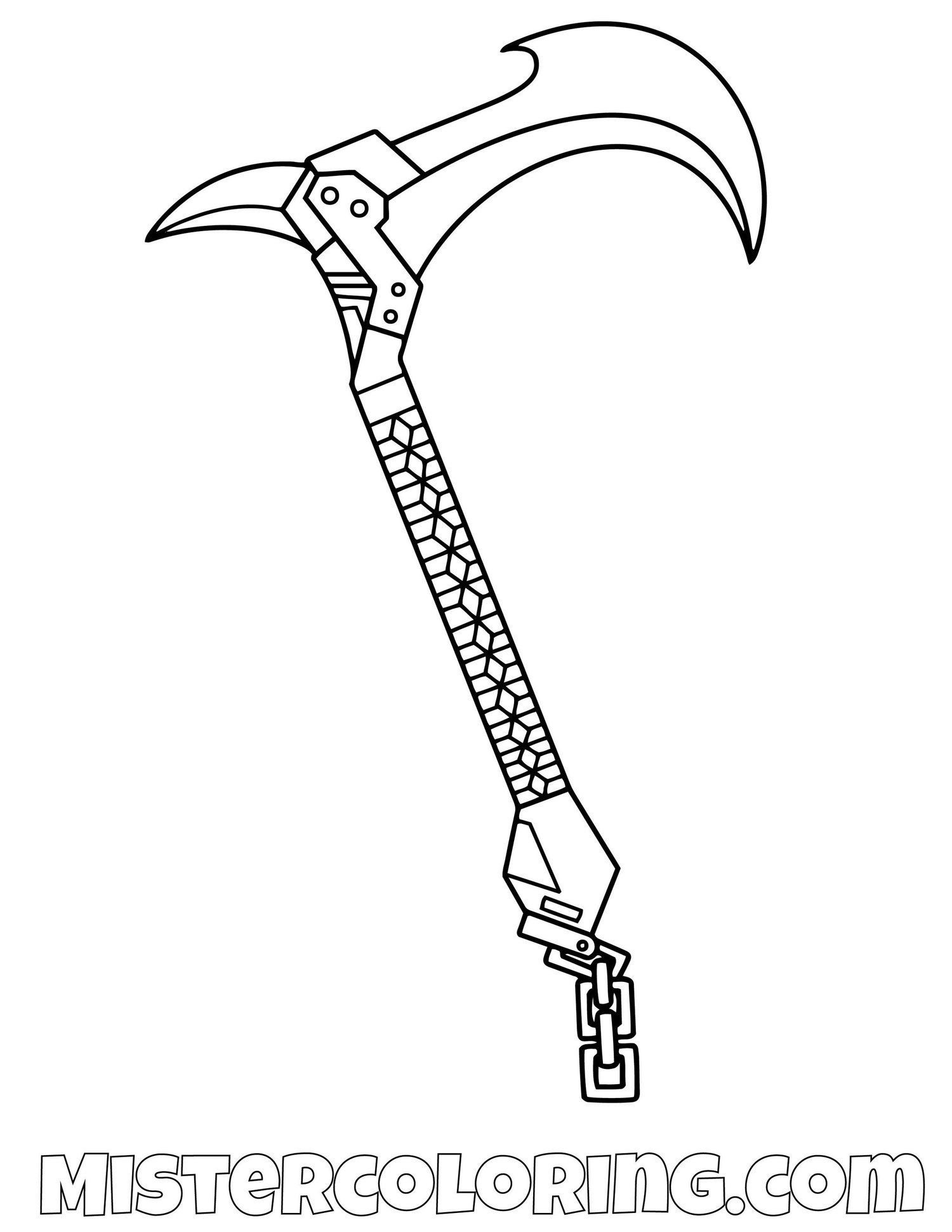 Skin Tracker Pickaxe Fortnite Coloring Page Coloriage Jeux Video