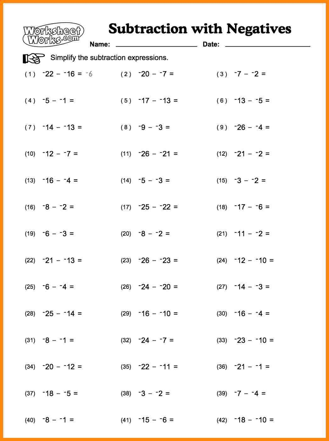 Adding And Subtracting Radicals Worksheet Integers Worksheet Subtracting Integers Worksheet Integers Adding and subtracting radical numbers