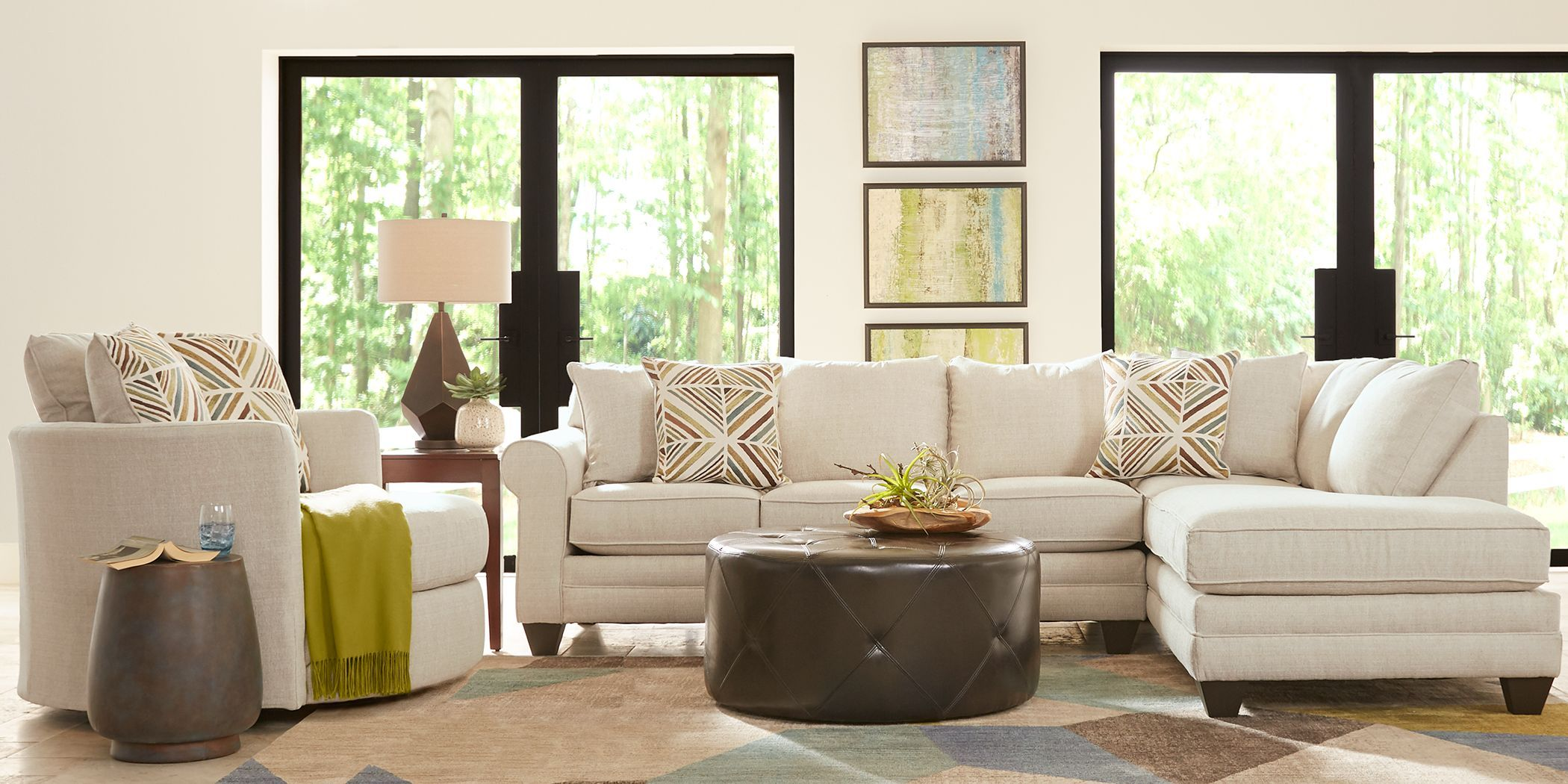 Ashebelle Beige 2 Pc Sectional Rooms To Go In 2020 Living Room