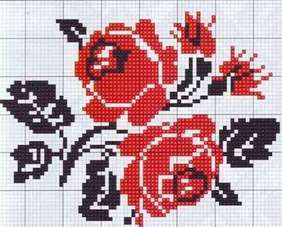 схема вишивки хрестиком троянди  26 тис. зображень знайдено в  Яндекс.Зображеннях a621c835c17e3