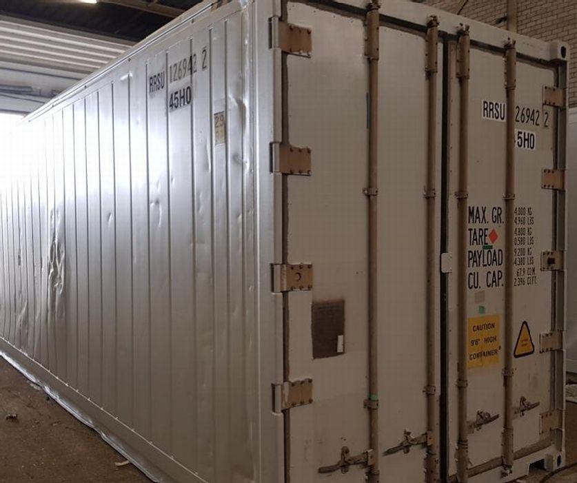 السلام عليكم ورحمة الله يسرنا ان نقدم لكم هذا العرض رقم العرض للسؤال عنه هو 56055 كونتينر براده 40قدم هاي كيوب Insulat Locker Storage Room Divider Storage
