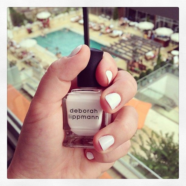 White hot mani in @deborah lippmann's Amazing Grace for this scorcher of a day.
