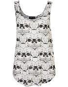 All Over Skull Crop Vest