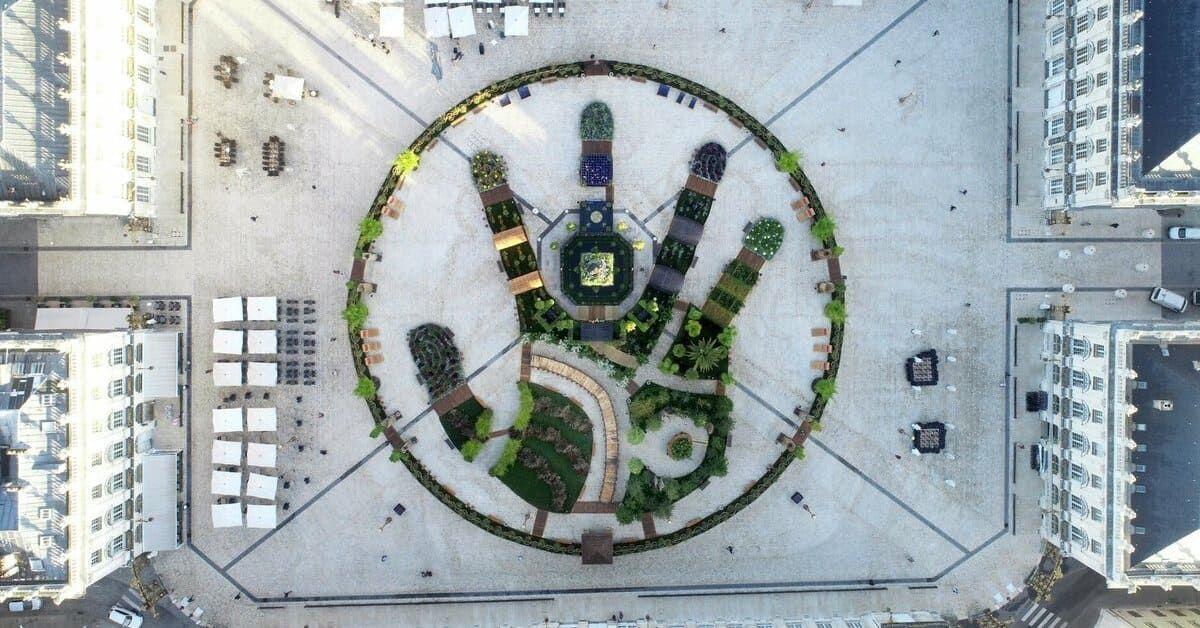 Le Jardin Ephemere De Nancy Place Stanislas Vu Du Ciel Vue Du