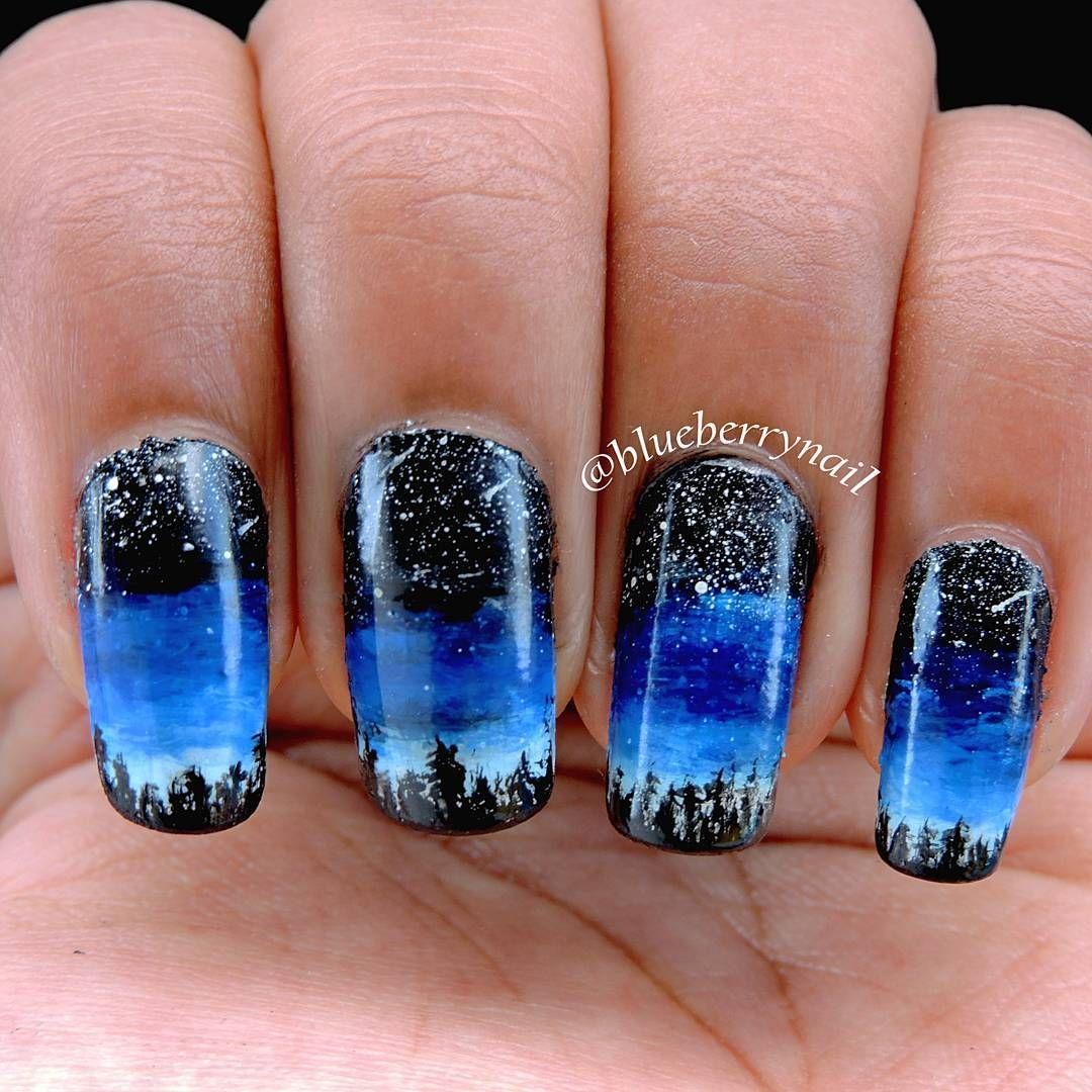 Night sky | Nails | Pinterest | Night skies, Beauty nails and Nail nail