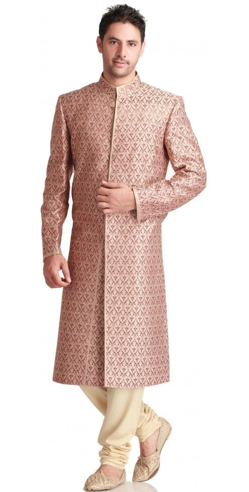 Red and Gold Wedding Sherwani | My Culture.. | Pinterest
