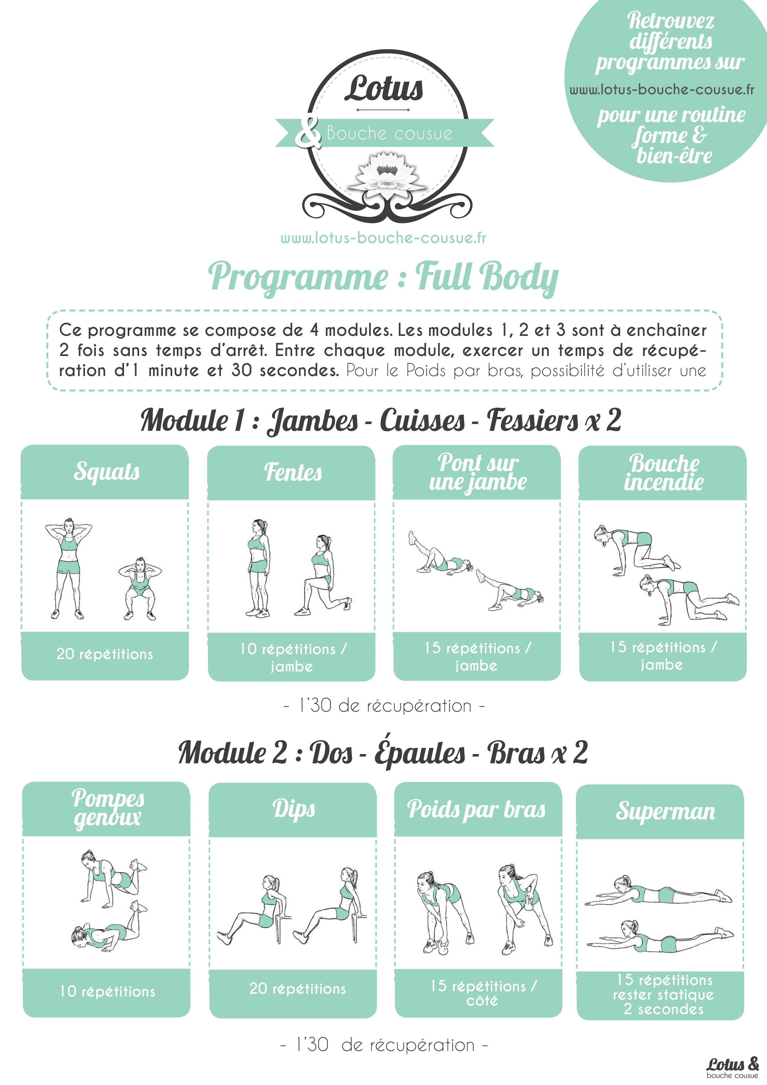 Programme Fitness Full Body n°2   Un programme complet a83443aaf61
