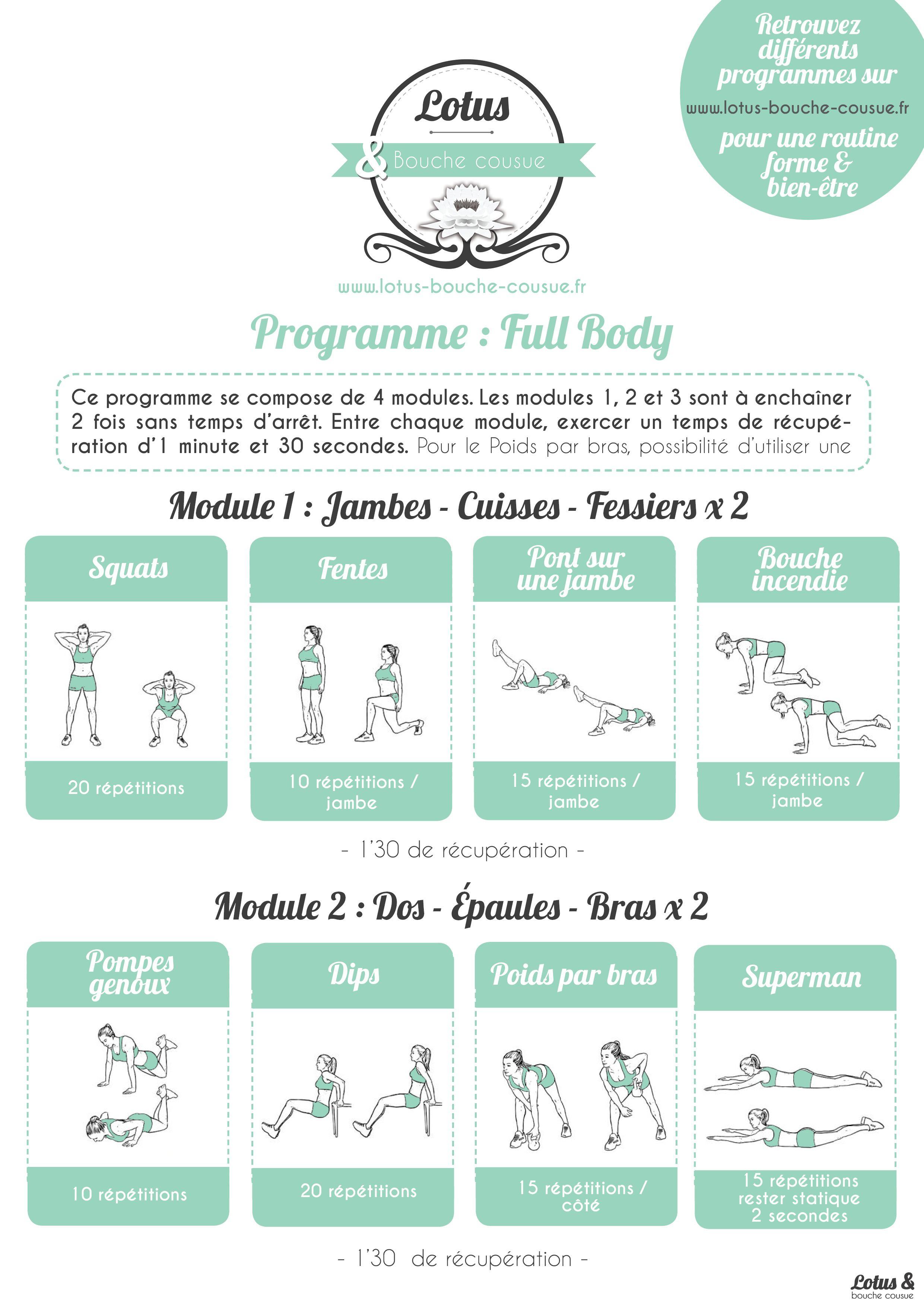 programme fitness full body n 2 un programme complet pour d butantes et interm diaires qui. Black Bedroom Furniture Sets. Home Design Ideas