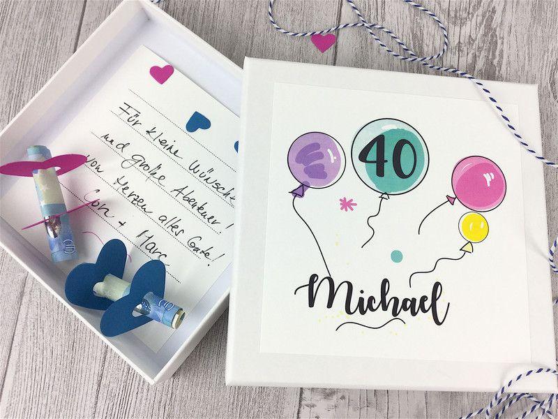Geschenke Fur Frauen Geldgeschenk Geburtstag Luftballons Ein