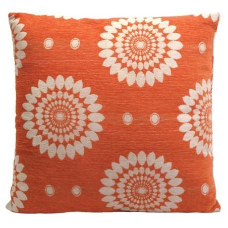 Tangerine Tango home decor  Lamps Plus large Sydney square pillow (Source: Chicago Shopping)