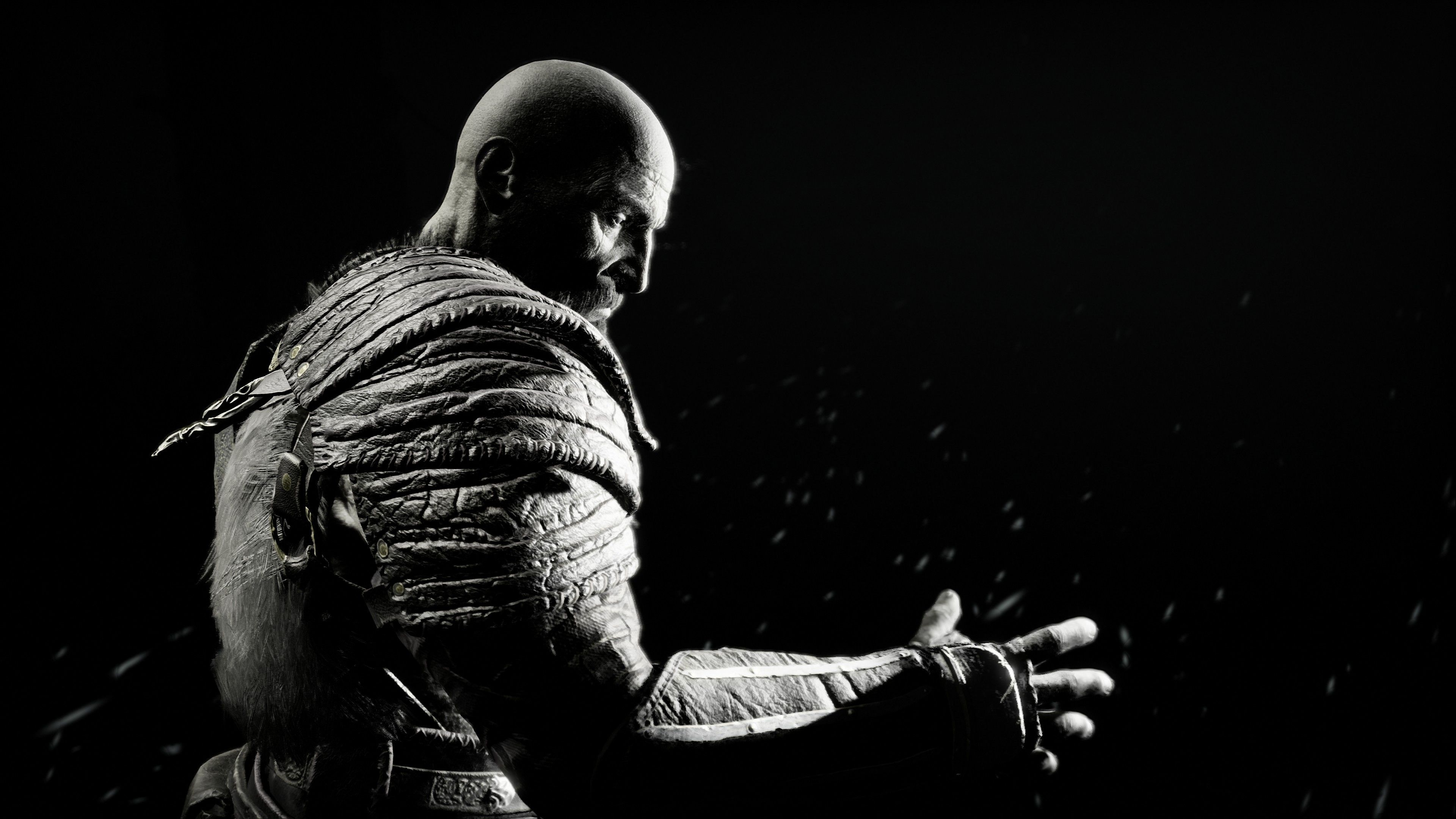 Kratos In God Of War 4k Ps Games Wallpapers Monochrome Wallpapers Kratos Wallpapers Hd Wallpapers God Of God Of War Kratos God Of War Overwatch Wallpapers