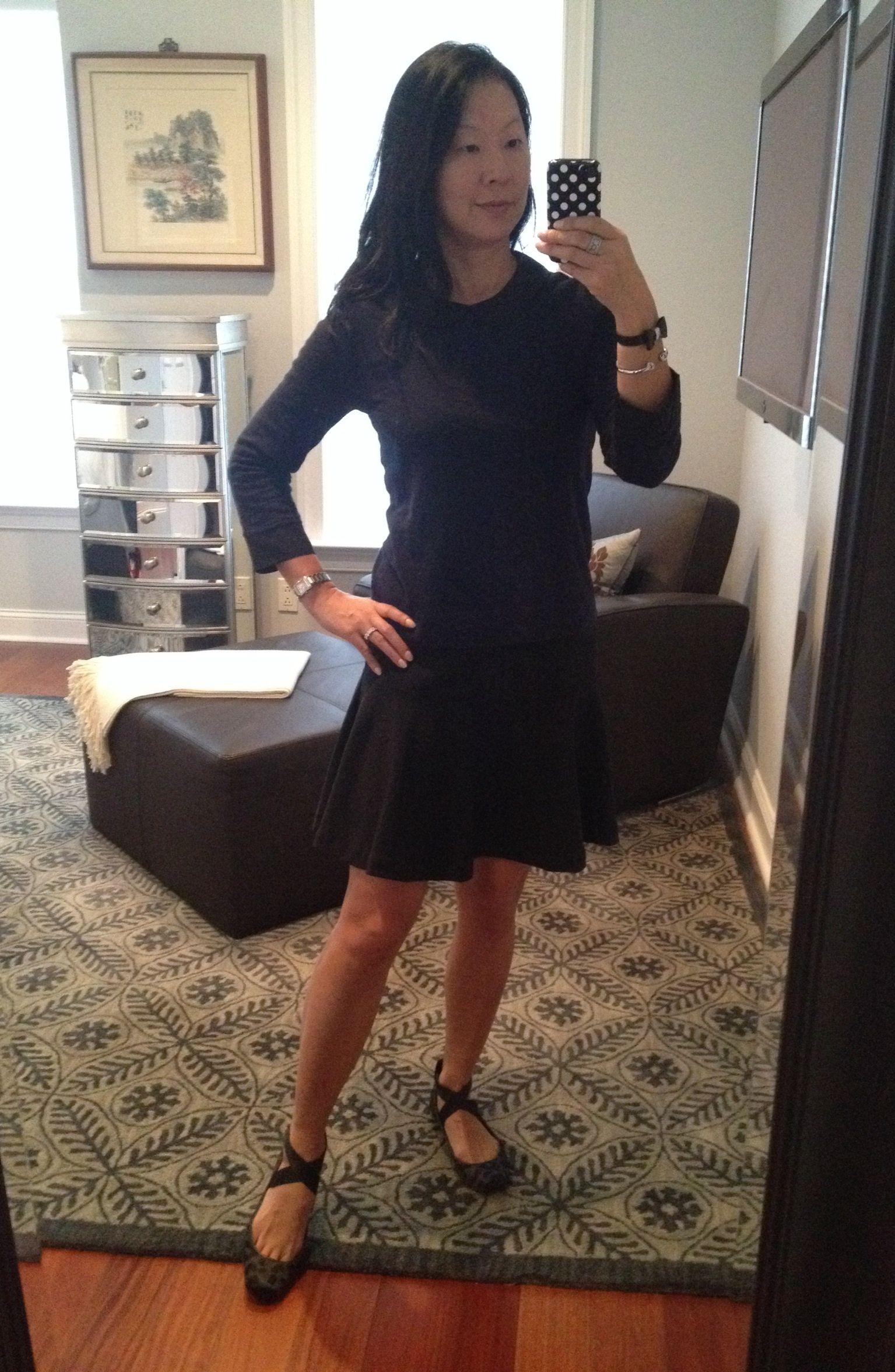 Valley Of The Shoes Black Dress Flounce Skirt Little Black Dress [ 2354 x 1535 Pixel ]
