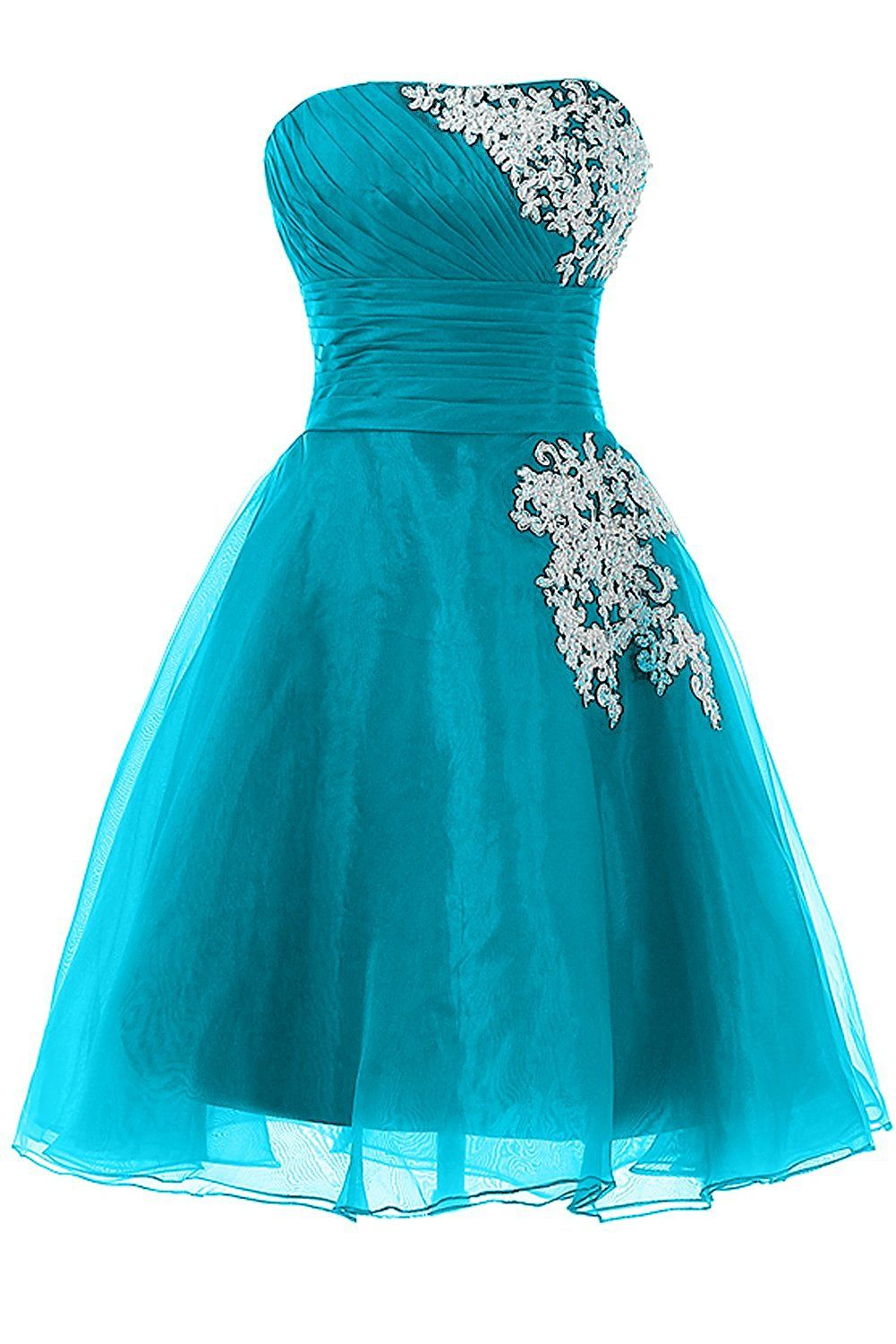 DINGZAN Organza and Lace Mini Sweet 16 Party Dance Prom Homecoming ...