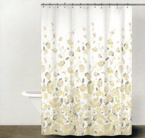 Dkny Falling Petals 100 Cotton Shower Curtain Floral Design