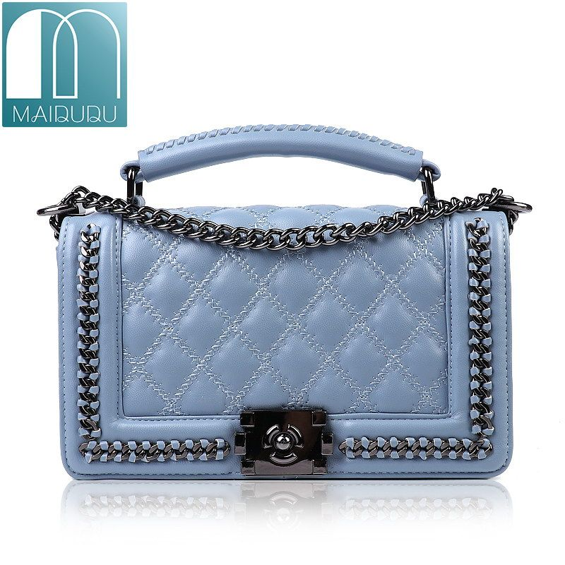 bbb94ccb8aeb Find More Shoulder Bags Information about MAIDUDU Classic Diamond Lattice  Brand Chain Women Handbags 2018 Street Fashion Top handle Flap Female  Shoulder ...
