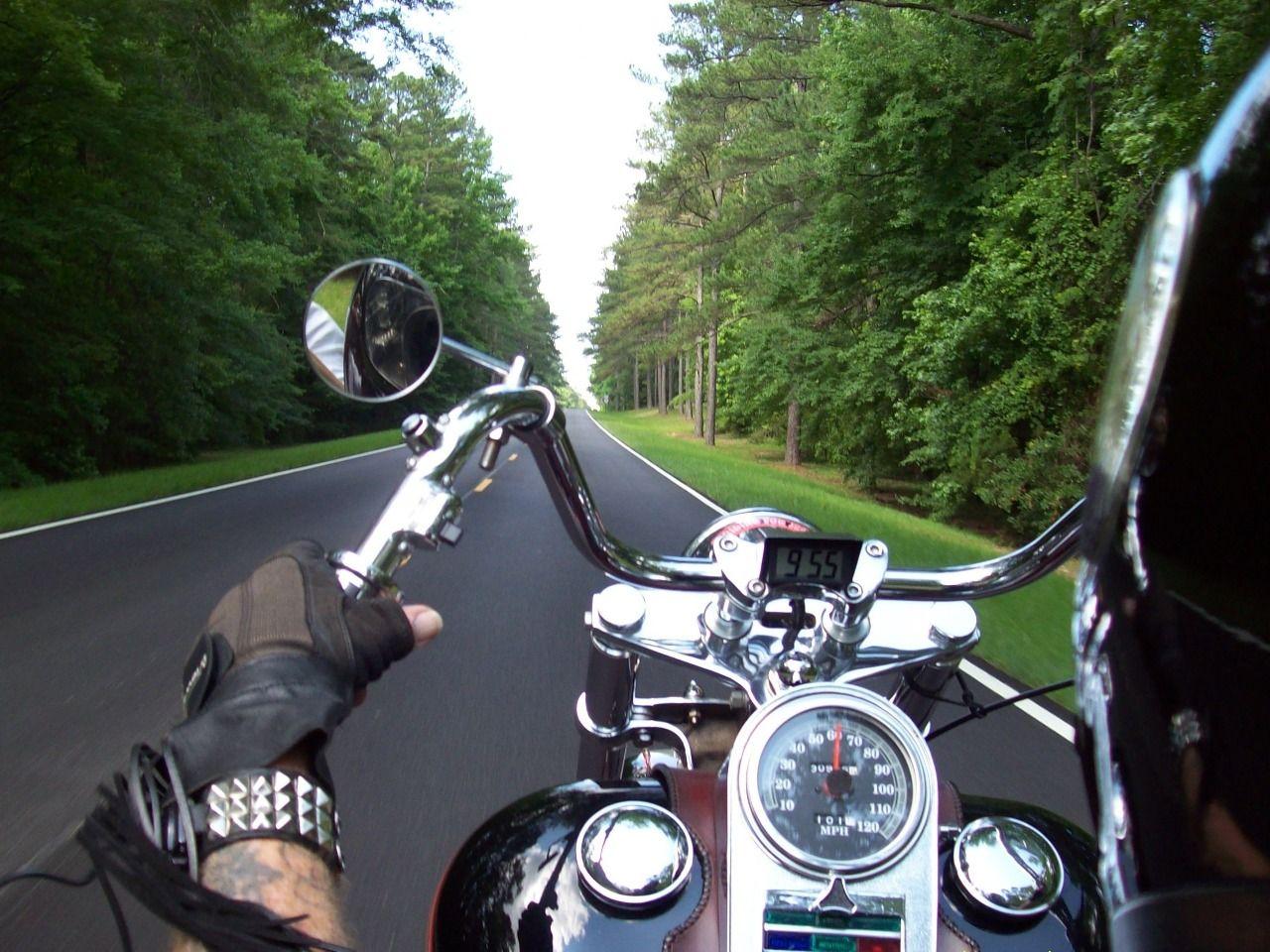 Днем рождения, открытка с днем мотоциклиста