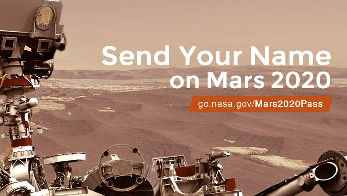 Mandare il proprio Nome su Marte, c'è ancora spazio alla NASA.