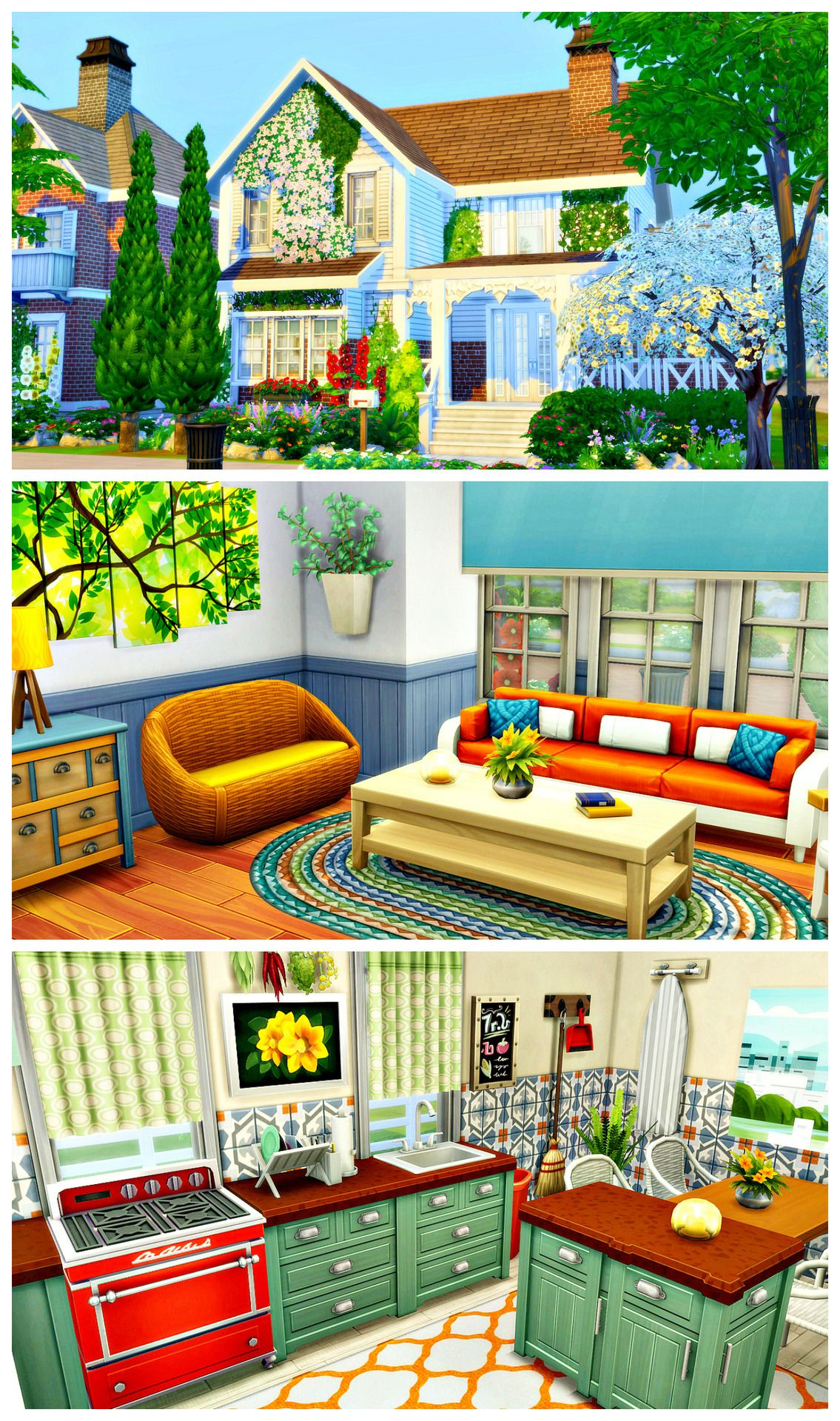 Riverside Completely Cc Free 2 Bedrooms 1 Bathroom 63 027 20 X 15 Lot Bb Moveobjects On Will Sims 4 House Design Sims House Plans Sims House