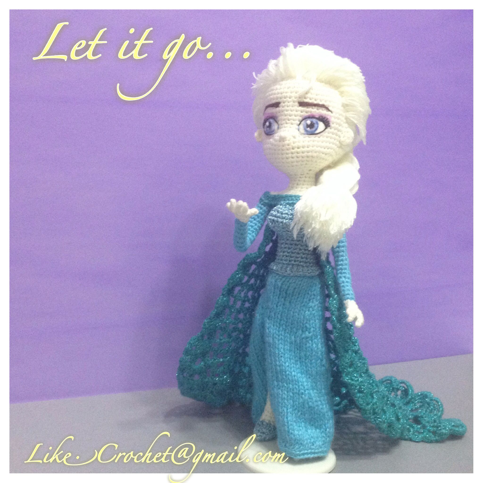 """Elsa"""" Crocheted Doll Pattern Designed and crocheted by Becky Ann ... 
