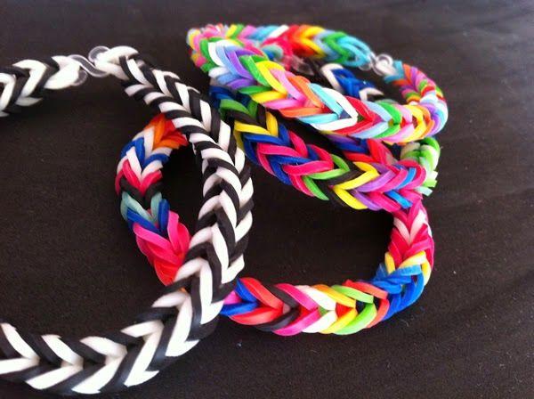 186da076d812 Cómo hacer pulseras con gomas de colores | Crafts | Haciendo ...