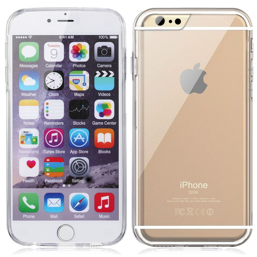 "Minisuit for iPhone 6 4.7"""" Bumper Case Clear Back with"