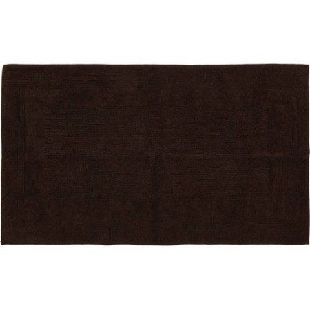 Better Homes and Gardens Cotton Reversible Bath Rug Collection, Brown