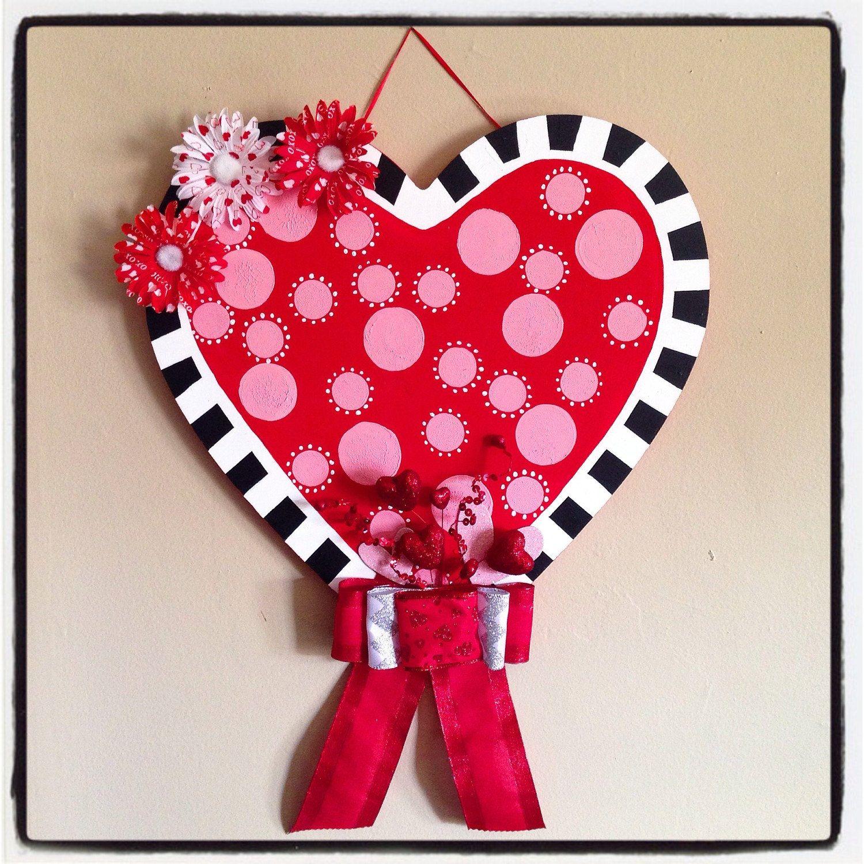 Custom Valentines Day Doornament Wall Hanging Wooden Hearts Crafts Wooden Hearts Valentines