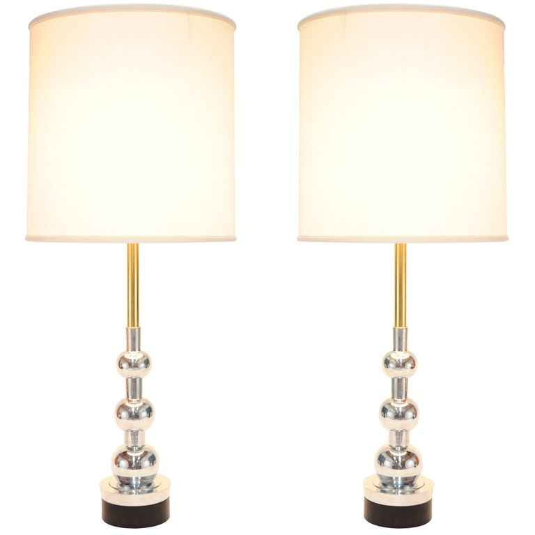 Pair Of Hand Polished Stiffel Lamps 1stdibs Com Lamp Table Lamp Lighting Modern Table Lamp