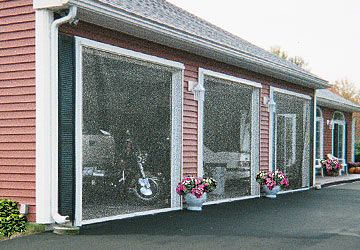 Screenex Retractable Pull Down Screens For Garages