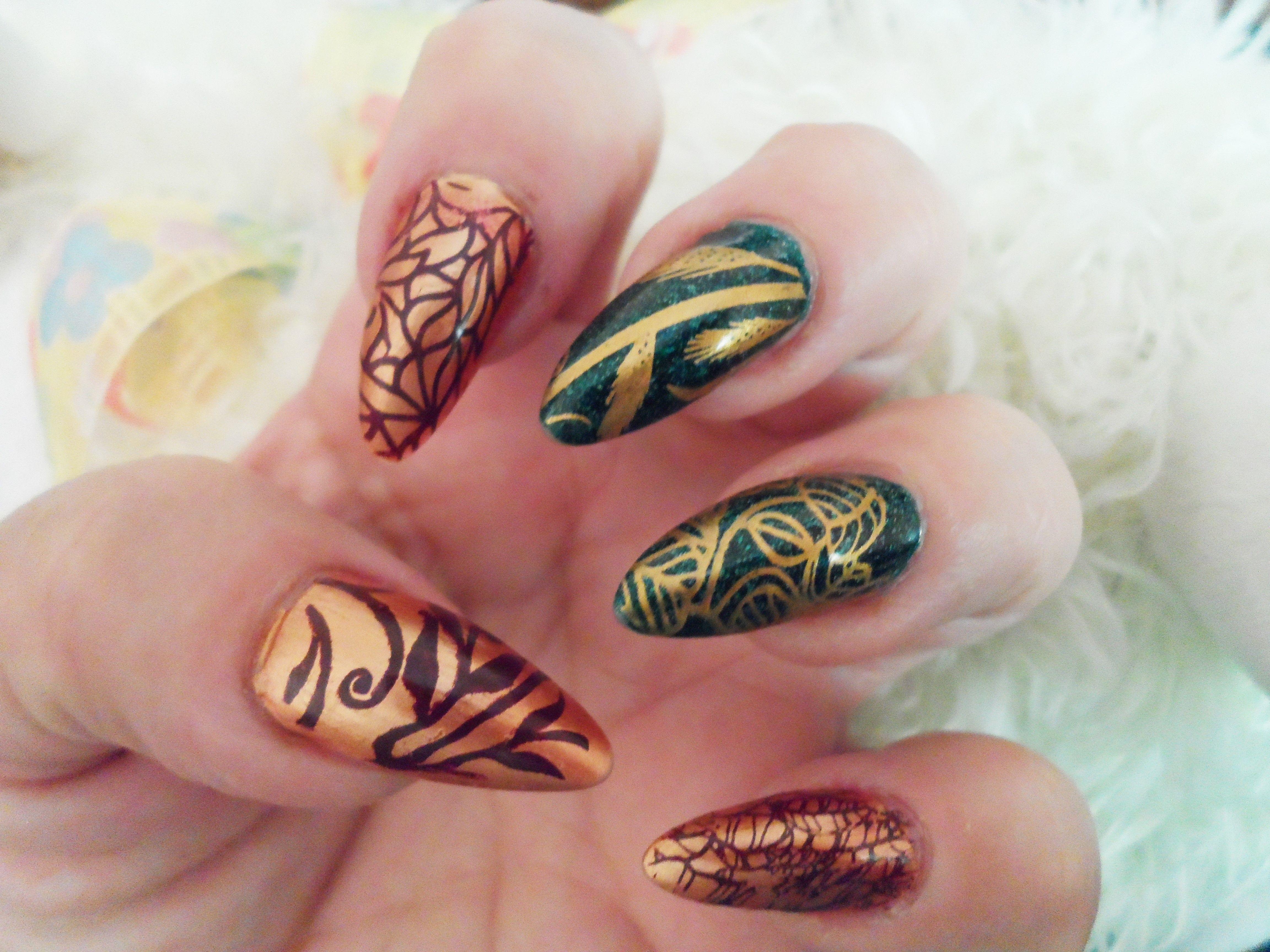 Autumn nails by Rita Korn, Hair Affair, Fort Wayne, IN | Expensive ...