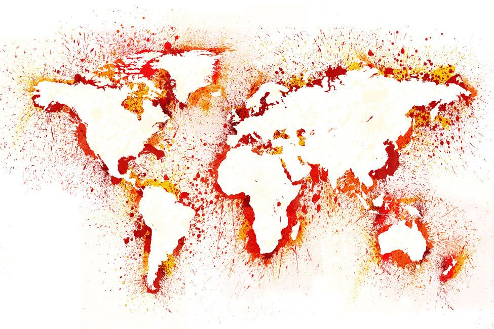 Abstract world map creative mind pinterest wallpaper abstract world map gumiabroncs Choice Image