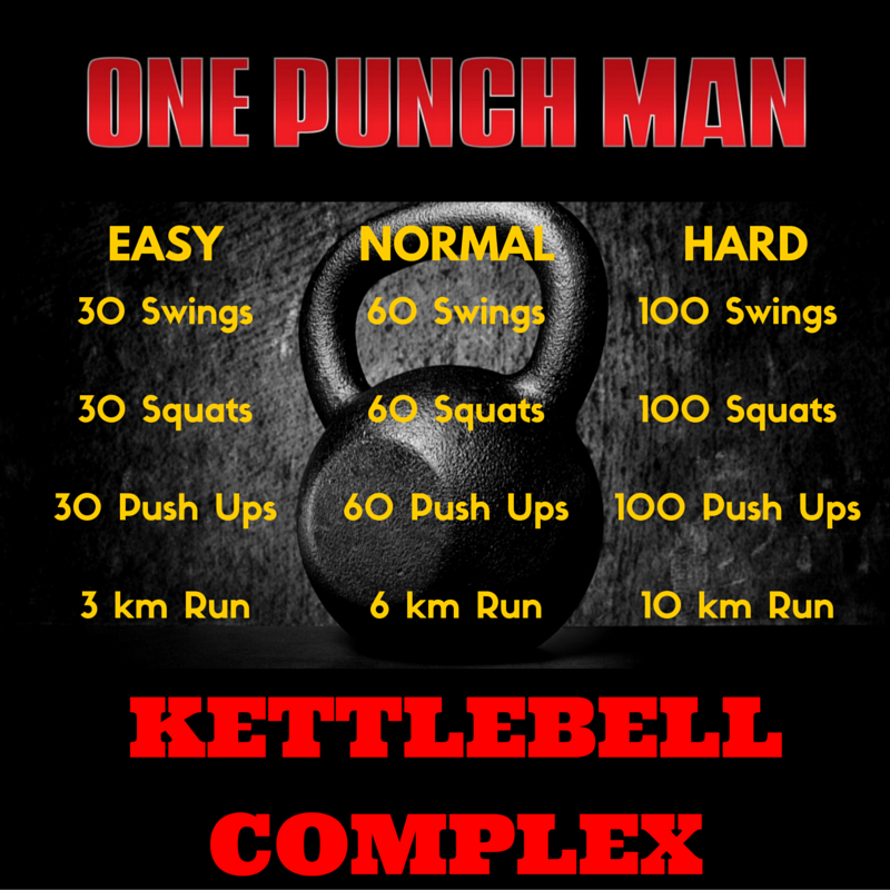 New Kettlebell Exercises For Your Workout Routine: One Punch Man Kettlebell
