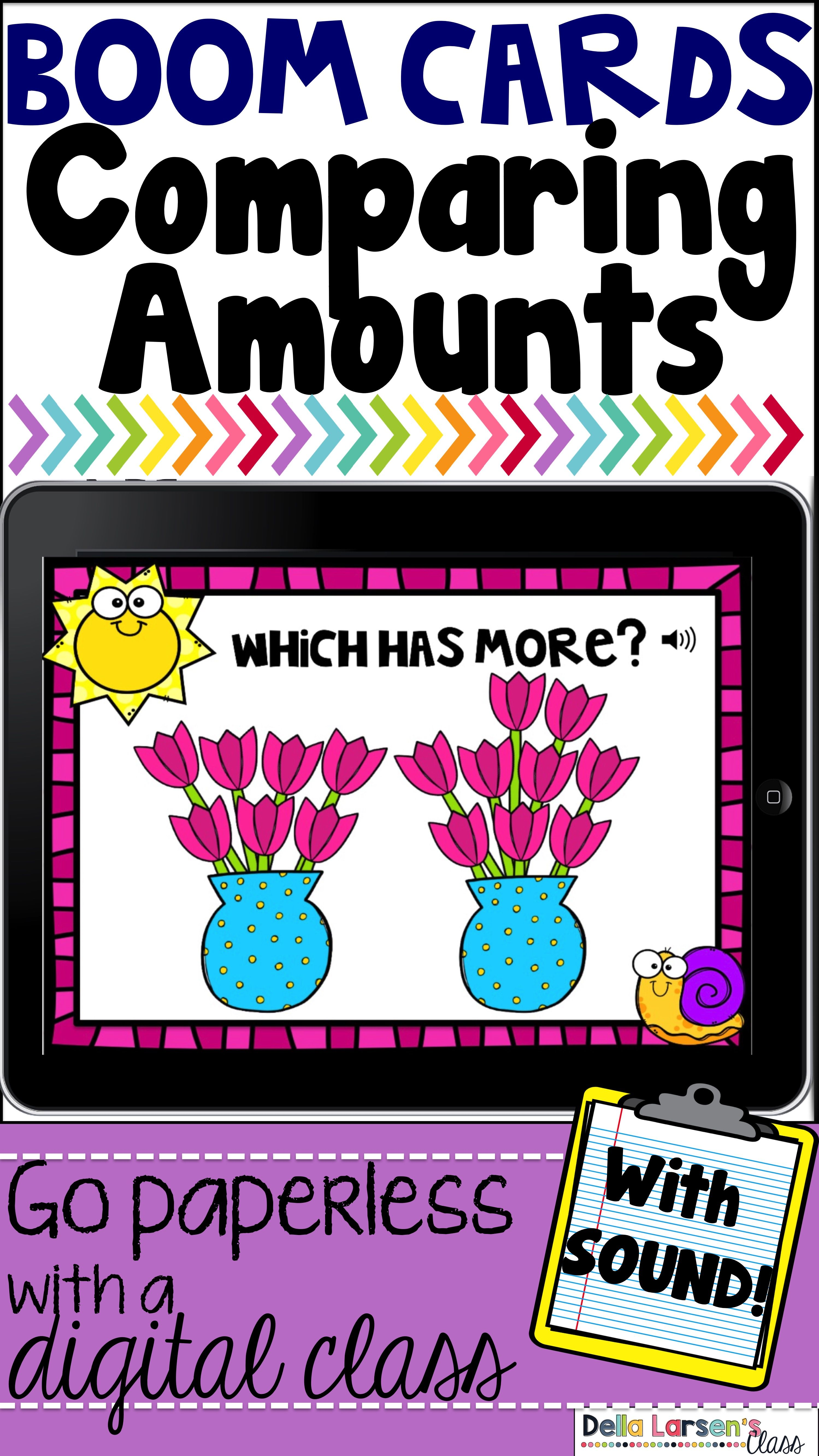 Boom Cards Spring Comparing Amounts And Place Value