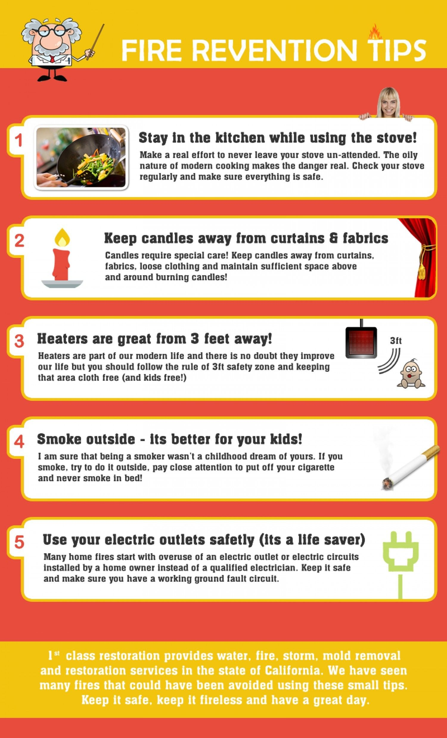 Fire Prevention Tips Fire Prevention Fabric Candle Tips
