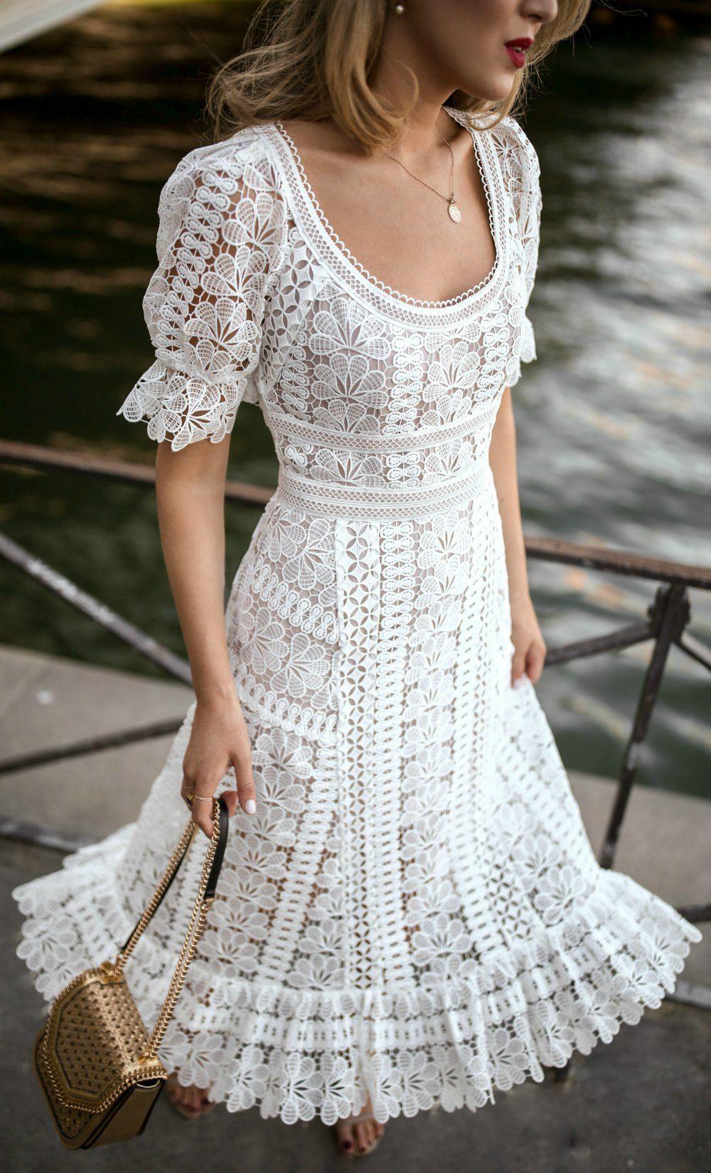 White Lace Dress Always Pretty Lace White Dress Lace Dress Dresses [ 1649 x 1000 Pixel ]