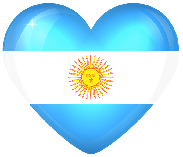 Argentina Large Heart Flag Flag Flag Alphabet Free Clip Art