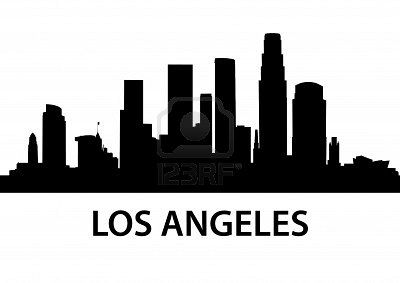Detailed Illustration Of Los Angeles California Skyline Silhouette City Skyline Silhouette Los Angeles Skyline