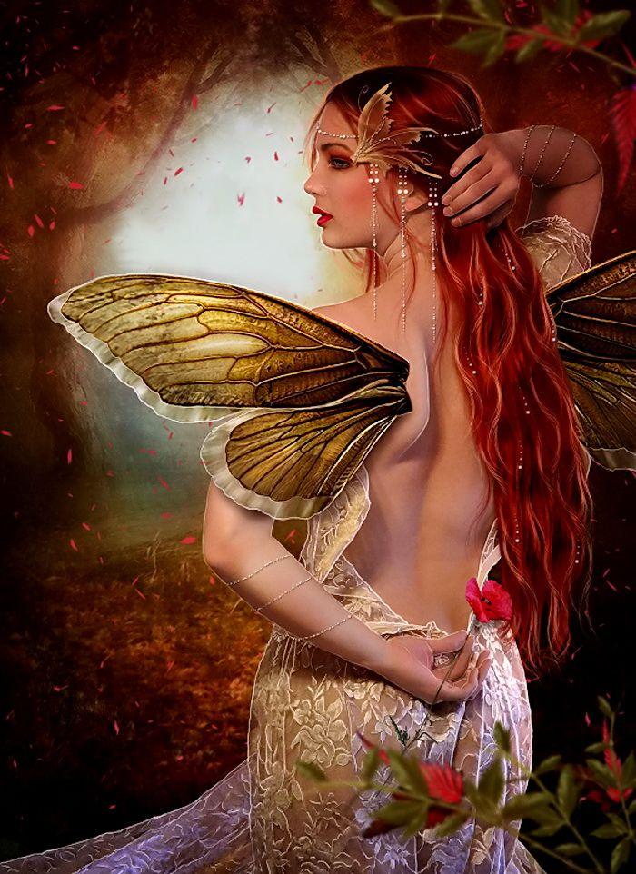 Картинки фэнтези королева с черными бабочками