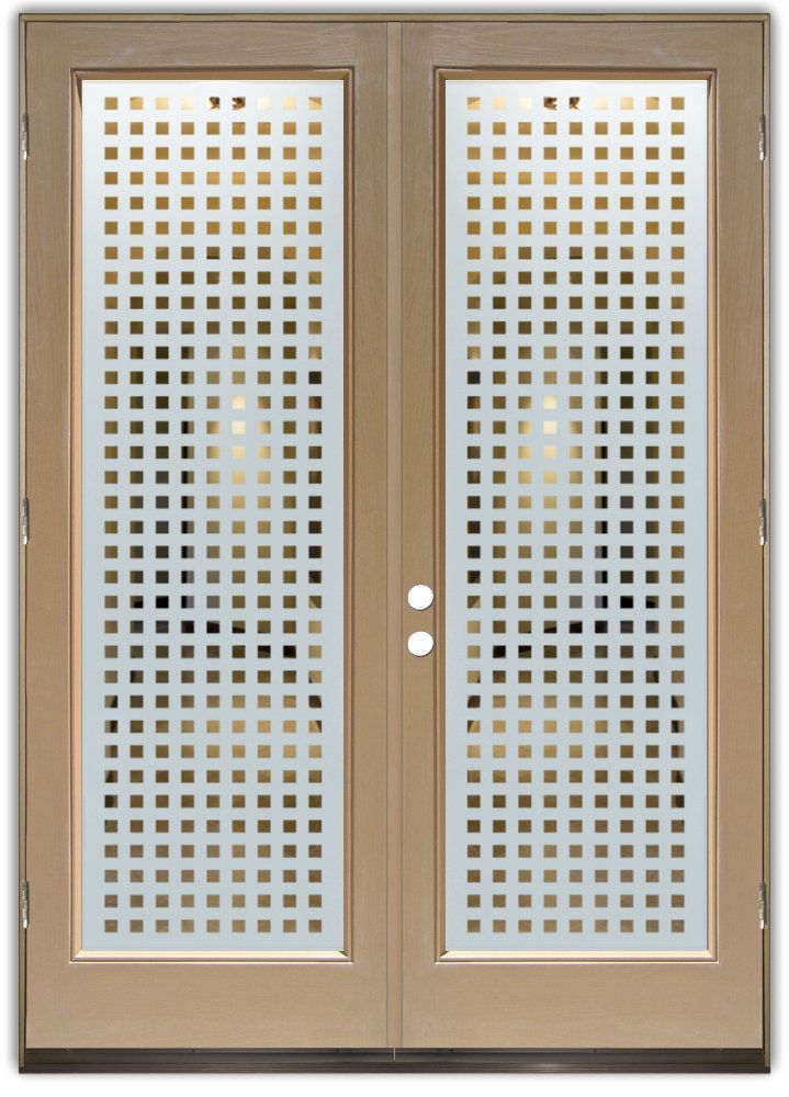 Squares frosted negative double entry doors hand crafted interior glass doors glass front doors pantry doors laundry room doors and glass wine cellar doors that you customize and buy online planetlyrics Images