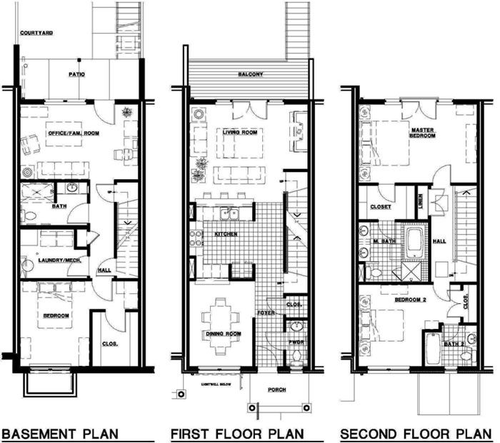 Townhouse Plans Townhouse Townhouse How To Plan и